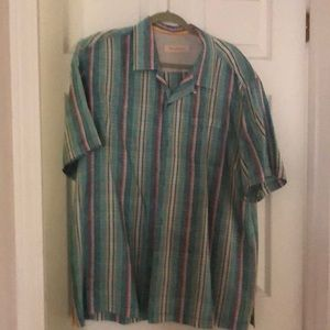 Men's plaid Tommy Bahama short sleeve shirt